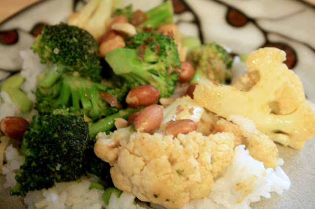 Panang Curry with broccoli and cauliflower