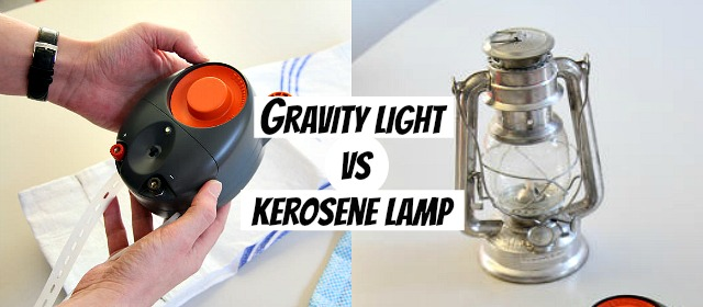 Gravity light runs without electricity, battery or any type of power source unlike traditional unhealthy kerosene lamps via geniushowto.blogspot.com science and technology news and gadgets