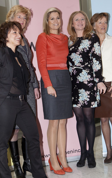 Princess Maxima of The Netherlands attend the Women's Inc conference in Amsterdam