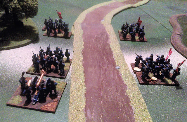 Battle of Oeversee 1864 scenario: Danish deployment, game two