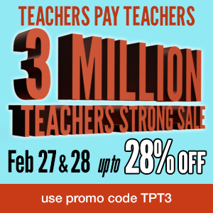 TeachersPayTeachers 3 Million Strong Site-Wide SALE!