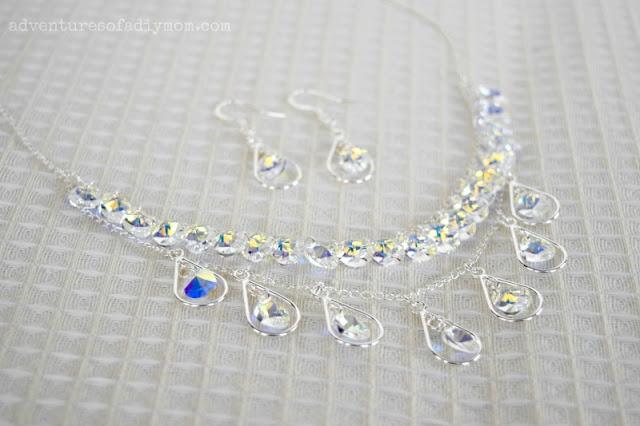 Teardrop Necklace and Earrings Set