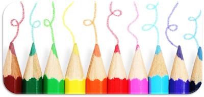 alat dan media gambar pensil warna untuk menggambar