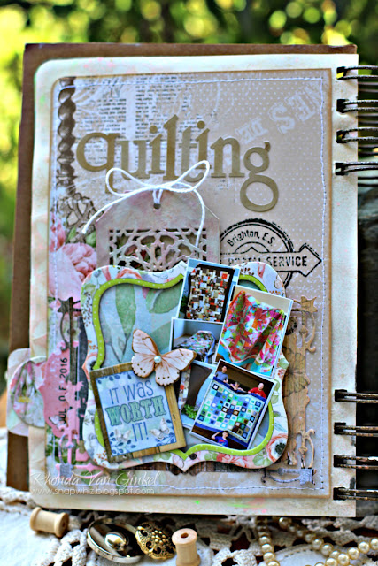 Art Journal Pages featuring the Butterfly Kisses and Soiree Collections by BoBunny designed by Rhonda Van Ginkel