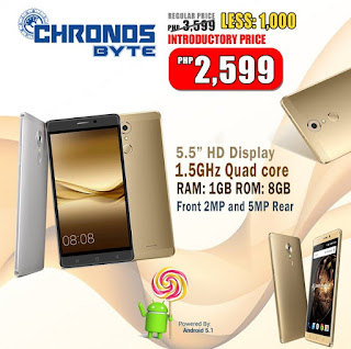 SKK Mobile Introduces Chronos Byte, 5.5-inch HD Quad Core with 1GB RAM for Php2,599