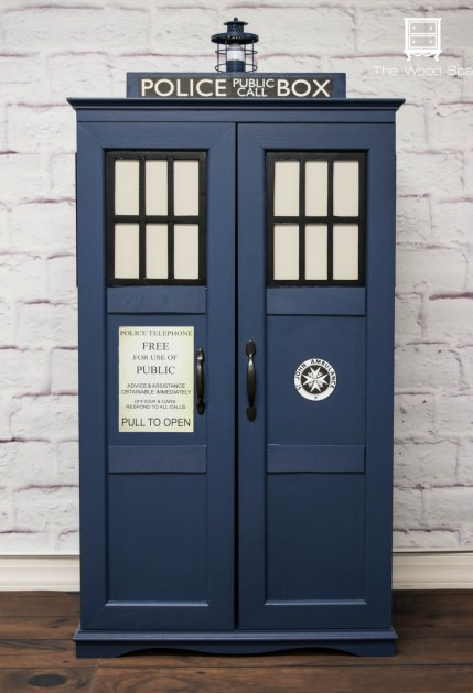Tardis cabinet tutorial DIY