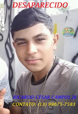 Desaparecido: Ricardo César Campos Jr. de Registro-SP