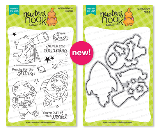 Cosmic Newton | Space Cat stamp set by Newton's Nook Designs #newtonsnook
