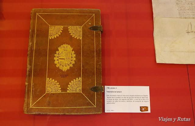 Testamento de Carlos II del archivo general de Simancas