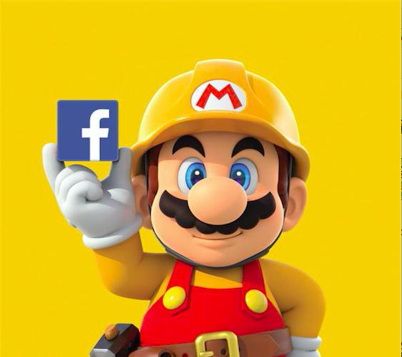 任天堂結盟Facebook,Super Mario Maker關卡由臉書員工設計!