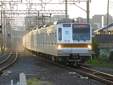 東武東上線 普通 武蔵小杉行き1 東京メトロ7000系