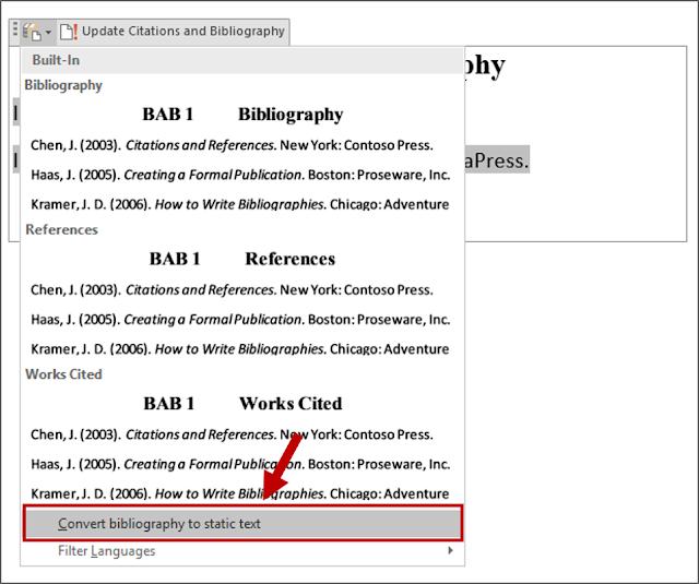 Konversi Bibliografi ke Teks