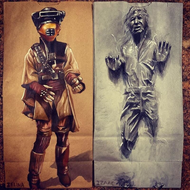 11-Star-Wars-L-Jinks-Brown-Bag-Art-Father-and-Drawings-for-Children-www-designstack-co