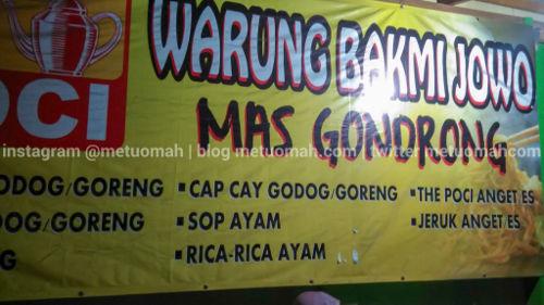 Bakmi Jowo Mas Gondrong yang ternyata Tidak Gondrong