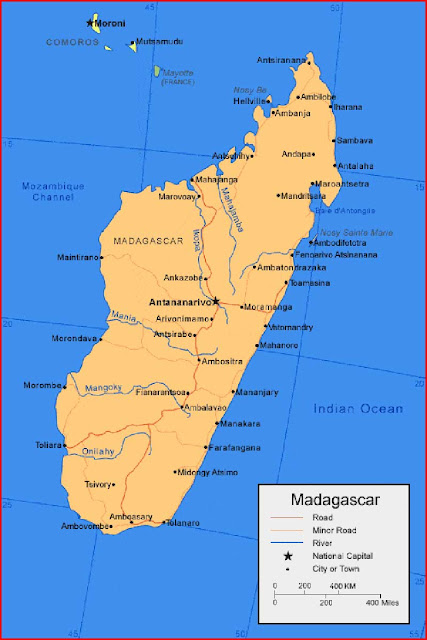 Gambar Peta Madagaskar