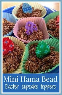 Mini Hama bead Easter Egg cake toppers