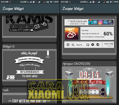 Kumpulan Template Zooper Widget PRO (190 Pack) ZW For Android