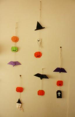 折り紙ハロウィン飾り