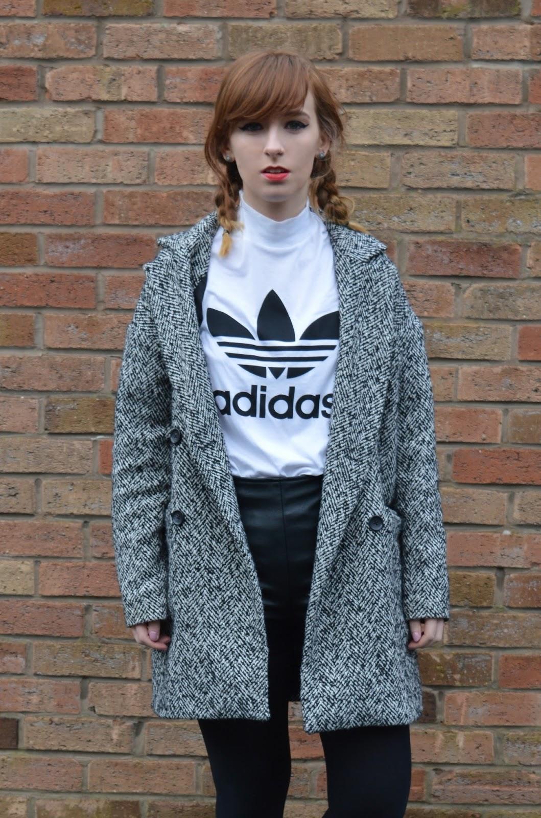 Coat Leather Shorts with Adidas