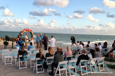 Beach wedding ceremony Dania beach