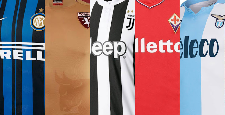 buy popular 1d69a 14fff 12 Teams With Italian Brands - 2017-18 Serie A Kit Special ...