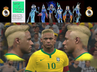 PES 2016 Neymar JR New Hairstyle Pes 2016 By The White Demon