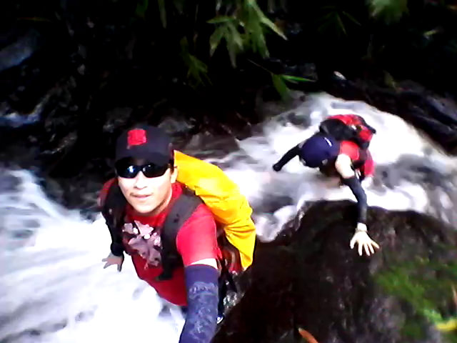 Canyoning at the 4th Waterfall