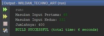Contoh Program Menggunakan BufferedReader dengan tipe data Integer