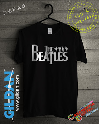 Kaos DISTRO The Beatles Warna Hitam