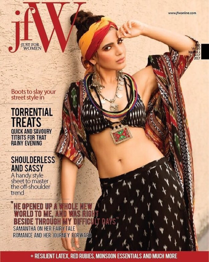Samantha Hot Navel Photo Shoot For Jfw Magazine 2017