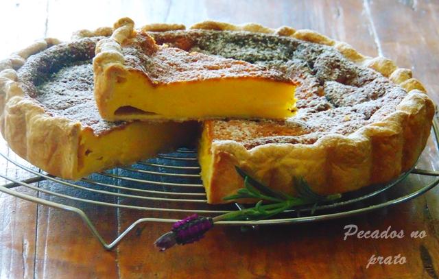 Receita da tarte de queijo light quark