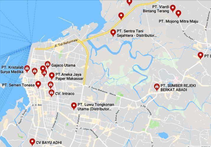 Info Alamat Distributor di Makassar Sulawesi Selatan