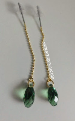 handmade swarovski earrings emerald green