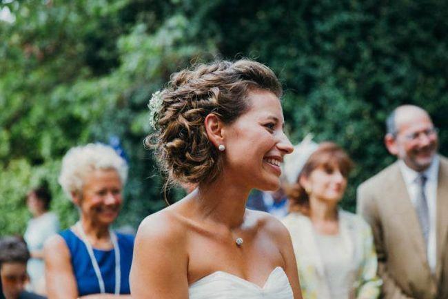 Peinado de novia corto