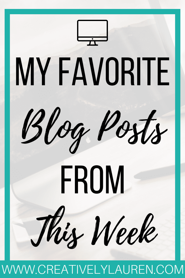 Check out my favorite blog posts from the lifestyle blogging community! These are my top 5 posts from this week! #lifestyle #lifestyleblogger