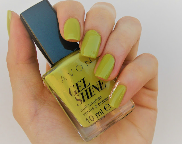 Avon GEL SHINE nail polishCitronised (Citronized), review and swatches