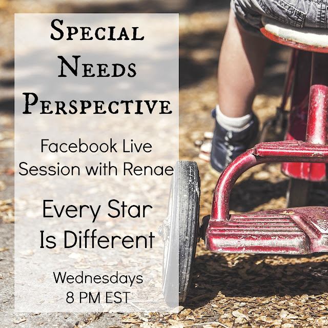 Special Needs Perspective Weekly Facebook Live Session details, including who's invited, what it is, where and when it takes place, and how you can join.