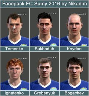 Facepack Fc sumy 2016 Pes 2013 By Nikadim