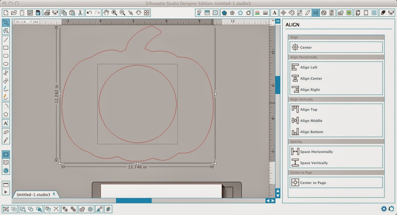 Monogram, pumpkin, Silhouette Studio, Silhouette tutorial, draw a circle