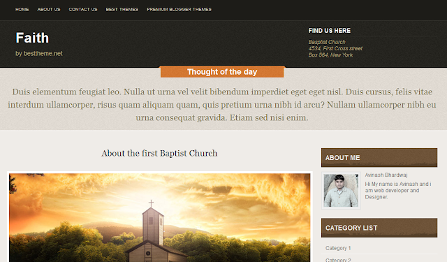 Religious Blogger Template