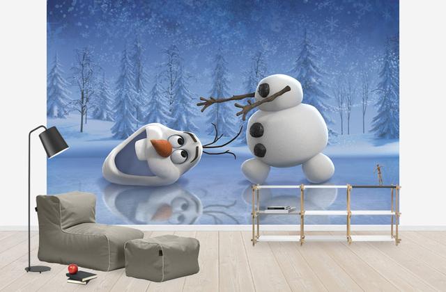 Modernisti Kodikas Lastenhuoneen Tapetti Disney Frozen