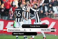 Φιλική εκτός έδρας νίκη του ΠΑΟΚ επί του Πανσερραϊκού με 3-0