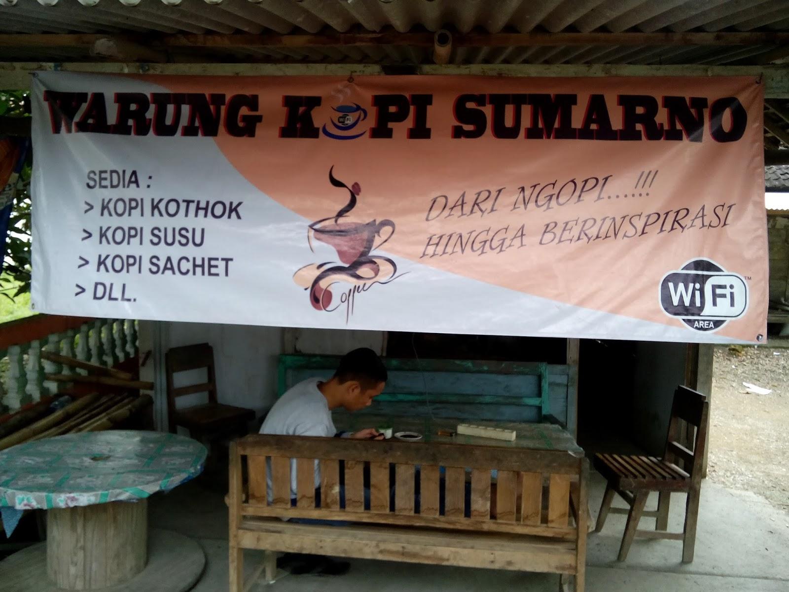 Warung Kopi Mbah Marno Desa Mojodelik Free Wifi Kartar Desa Mojodelik