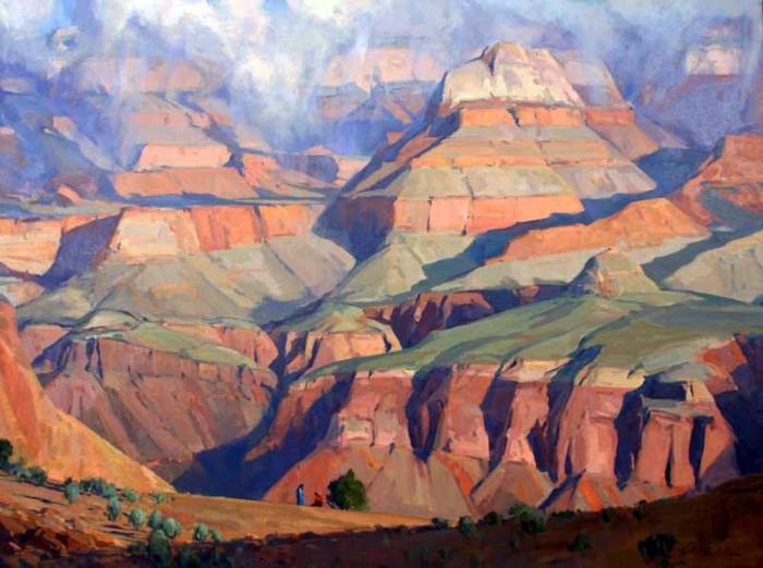 Горные пейзажи. G. Russell Case 9