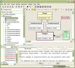 Download ArgoUML to create UML diagrams
