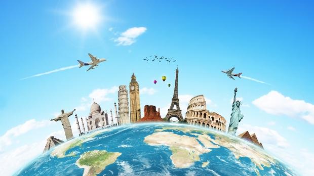 Recorre el mundo en coche o avión