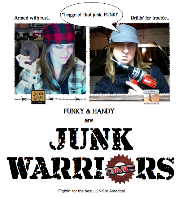 Funky and Handy are JUNK WARRIORS, in a quest to find the best JUNK at The World's Longest Yard Sale