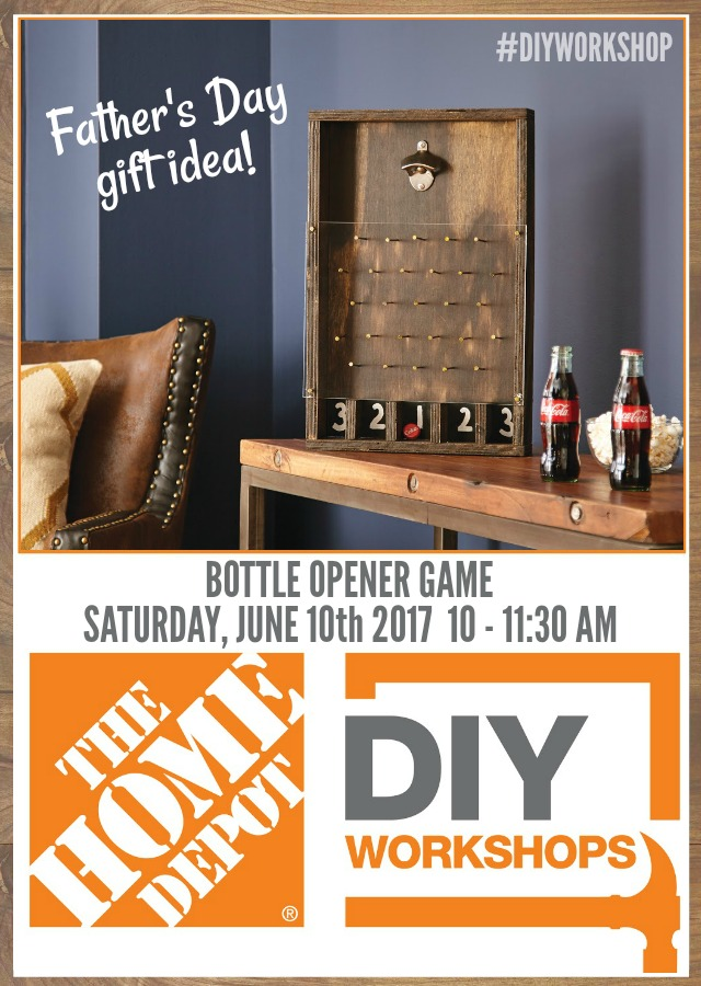 that 39 s my letter bottle opener game diy workshop at the home depot. Black Bedroom Furniture Sets. Home Design Ideas