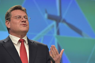 European Commission Vice-President Maros Sefcovic gestures during a news conference on Clean Energy package in Brussels, Belgium November 30, 2016. (Credit: Reuters/Eric Vidal) Click to Enlarge.