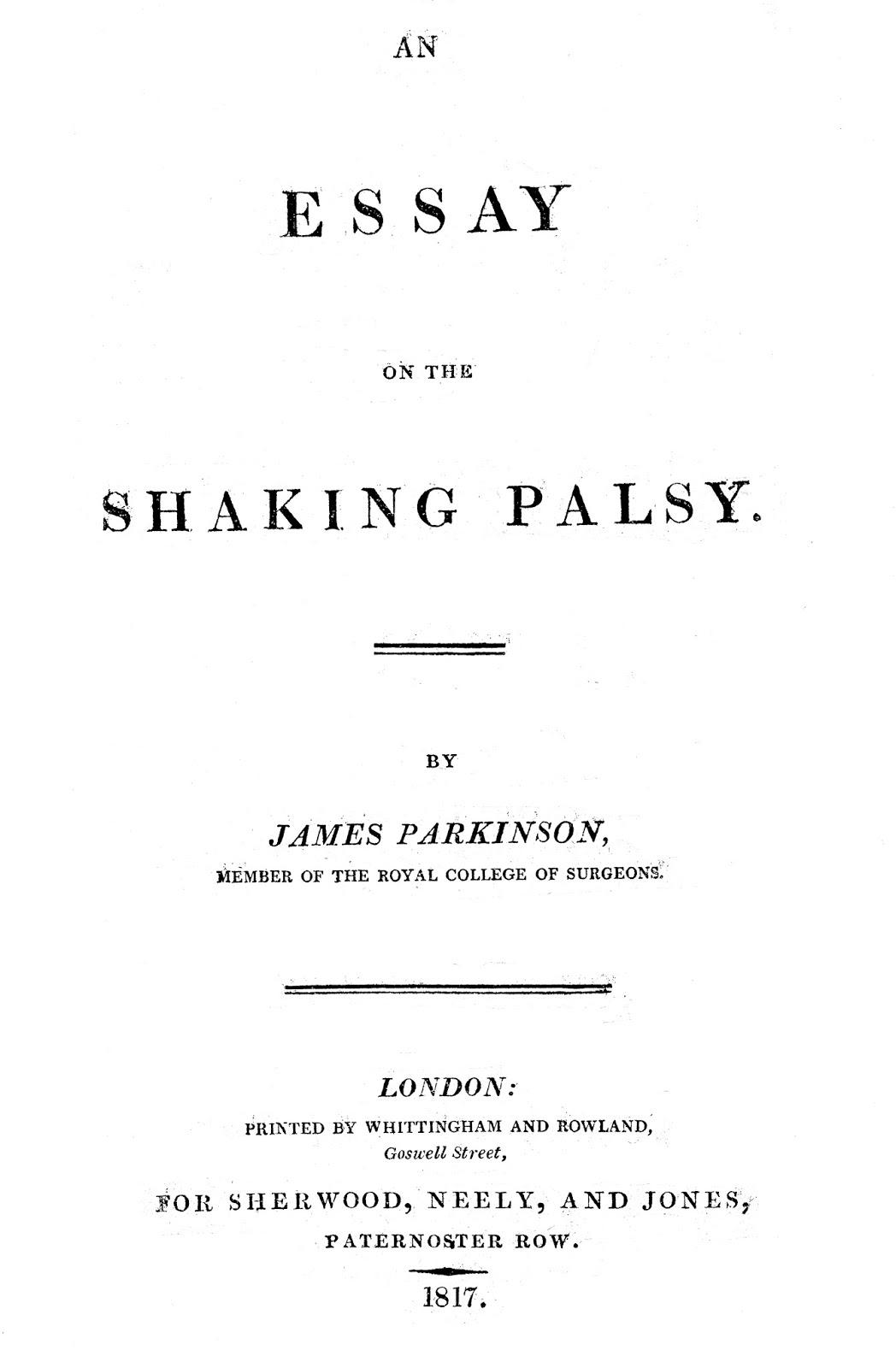 an essay on the shaking palsy traduzione